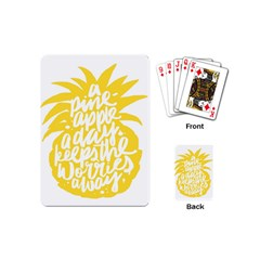 Cute Pineapple Yellow Fruite Playing Cards (mini)  by Mariart