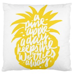 Cute Pineapple Yellow Fruite Large Cushion Case (one Side) by Mariart