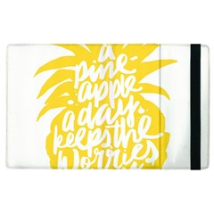 Cute Pineapple Yellow Fruite Apple Ipad 2 Flip Case by Mariart