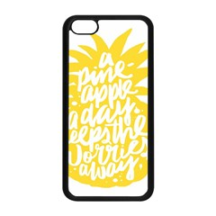 Cute Pineapple Yellow Fruite Apple Iphone 5c Seamless Case (black) by Mariart