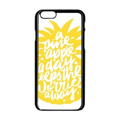 Cute Pineapple Yellow Fruite Apple Iphone 6/6s Black Enamel Case by Mariart