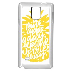 Cute Pineapple Yellow Fruite Samsung Galaxy Note 4 Case (white) by Mariart