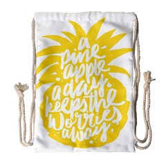 Cute Pineapple Yellow Fruite Drawstring Bag (large) by Mariart