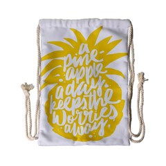Cute Pineapple Yellow Fruite Drawstring Bag (small) by Mariart