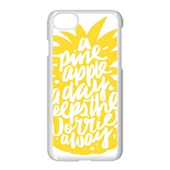 Cute Pineapple Yellow Fruite Apple Iphone 7 Seamless Case (white) by Mariart