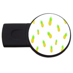 Cute Pineapple Fruite Yellow Green Usb Flash Drive Round (2 Gb) by Mariart