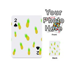 Cute Pineapple Fruite Yellow Green Playing Cards 54 (mini)  by Mariart