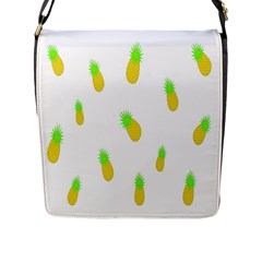 Cute Pineapple Fruite Yellow Green Flap Messenger Bag (l)