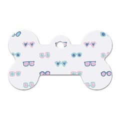 Cute Sexy Funny Sunglasses Kids Pink Blue Dog Tag Bone (one Side) by Mariart