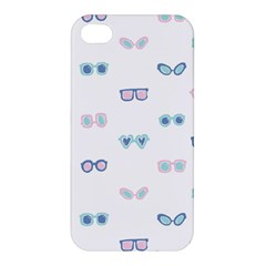 Cute Sexy Funny Sunglasses Kids Pink Blue Apple Iphone 4/4s Hardshell Case by Mariart