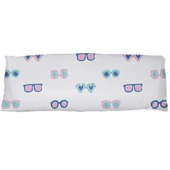 Cute Sexy Funny Sunglasses Kids Pink Blue Body Pillow Case Dakimakura (two Sides) by Mariart