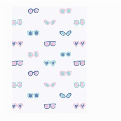 Cute Sexy Funny Sunglasses Kids Pink Blue Large Garden Flag (two Sides) by Mariart