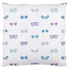 Cute Sexy Funny Sunglasses Kids Pink Blue Large Cushion Case (two Sides) by Mariart