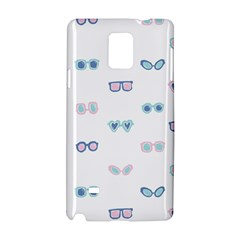 Cute Sexy Funny Sunglasses Kids Pink Blue Samsung Galaxy Note 4 Hardshell Case by Mariart