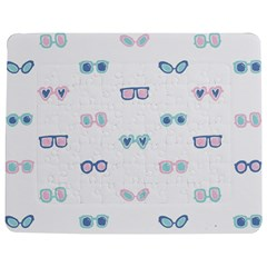 Cute Sexy Funny Sunglasses Kids Pink Blue Jigsaw Puzzle Photo Stand (rectangular) by Mariart