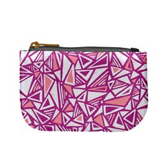 Conversational Triangles Pink White Mini Coin Purses