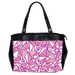 Conversational Triangles Pink White Office Handbags (2 Sides)