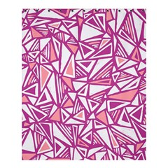 Conversational Triangles Pink White Shower Curtain 60  X 72  (medium)  by Mariart
