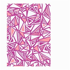 Conversational Triangles Pink White Small Garden Flag (two Sides) by Mariart