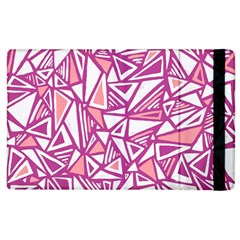 Conversational Triangles Pink White Apple Ipad 3/4 Flip Case by Mariart