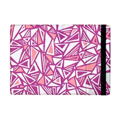 Conversational Triangles Pink White Ipad Mini 2 Flip Cases by Mariart