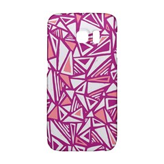 Conversational Triangles Pink White Galaxy S6 Edge by Mariart