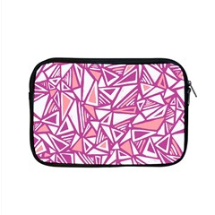 Conversational Triangles Pink White Apple Macbook Pro 15  Zipper Case by Mariart