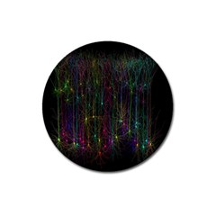 Brain Cell Dendrites Magnet 3  (round) by Mariart