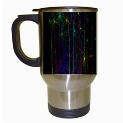 Brain Cell Dendrites Travel Mugs (white) by Mariart