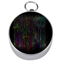 Brain Cell Dendrites Silver Compasses by Mariart