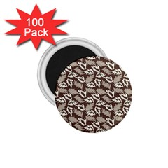 Dried Leaves Grey White Camuflage Summer 1 75  Magnets (100 Pack)  by Mariart
