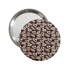 Dried Leaves Grey White Camuflage Summer 2 25  Handbag Mirrors by Mariart