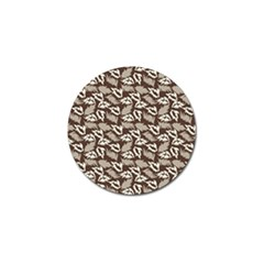 Dried Leaves Grey White Camuflage Summer Golf Ball Marker by Mariart