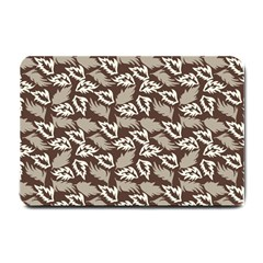 Dried Leaves Grey White Camuflage Summer Small Doormat  by Mariart