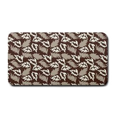 Dried Leaves Grey White Camuflage Summer Medium Bar Mats by Mariart