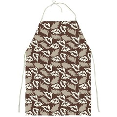 Dried Leaves Grey White Camuflage Summer Full Print Aprons by Mariart