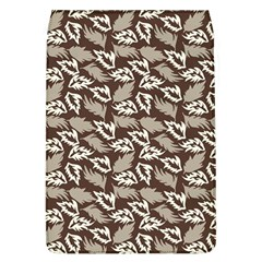 Dried Leaves Grey White Camuflage Summer Flap Covers (l)  by Mariart