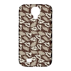 Dried Leaves Grey White Camuflage Summer Samsung Galaxy S4 Classic Hardshell Case (pc+silicone) by Mariart