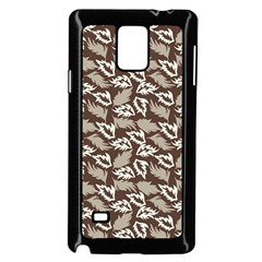 Dried Leaves Grey White Camuflage Summer Samsung Galaxy Note 4 Case (black) by Mariart