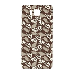 Dried Leaves Grey White Camuflage Summer Samsung Galaxy Alpha Hardshell Back Case by Mariart