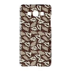 Dried Leaves Grey White Camuflage Summer Samsung Galaxy A5 Hardshell Case  by Mariart