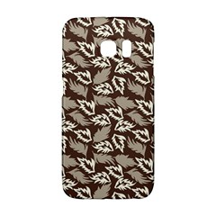Dried Leaves Grey White Camuflage Summer Galaxy S6 Edge by Mariart