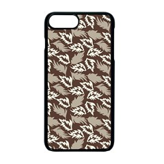 Dried Leaves Grey White Camuflage Summer Apple Iphone 7 Plus Seamless Case (black) by Mariart