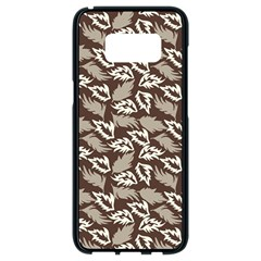 Dried Leaves Grey White Camuflage Summer Samsung Galaxy S8 Black Seamless Case by Mariart