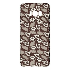Dried Leaves Grey White Camuflage Summer Samsung Galaxy S8 Plus Hardshell Case  by Mariart