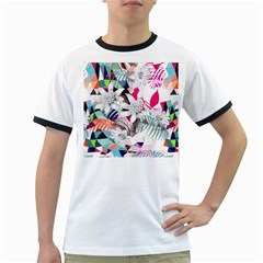 Flower Graphic Pattern Floral Ringer T-shirts by Mariart