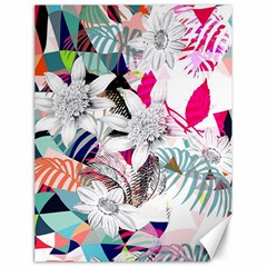 Flower Graphic Pattern Floral Canvas 18  X 24   by Mariart
