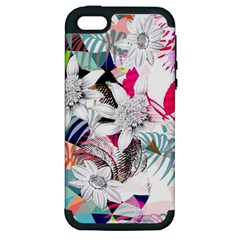 Flower Graphic Pattern Floral Apple Iphone 5 Hardshell Case (pc+silicone) by Mariart