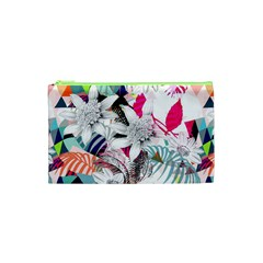 Flower Graphic Pattern Floral Cosmetic Bag (xs) by Mariart