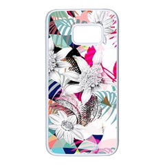 Flower Graphic Pattern Floral Samsung Galaxy S7 White Seamless Case